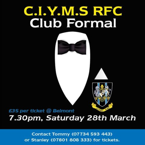 Club Formal – This Sat 28th March